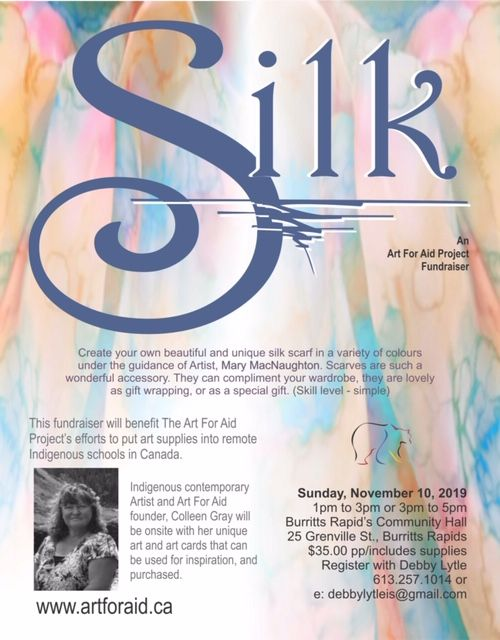 Art for Aid Silk Scarf Workshop Nov 10
